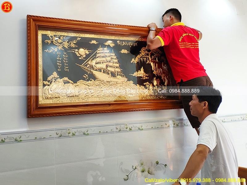 Tranh Thuận Buồm Xuôi Gió mạ vàng 1m76