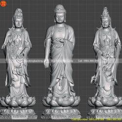Mẫu tượng Tam Thánh Tây Phương đẹp