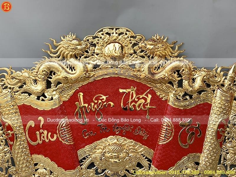 Cuốn thư Cửu Huyền Thất Tổ 1m97 mạ vàng