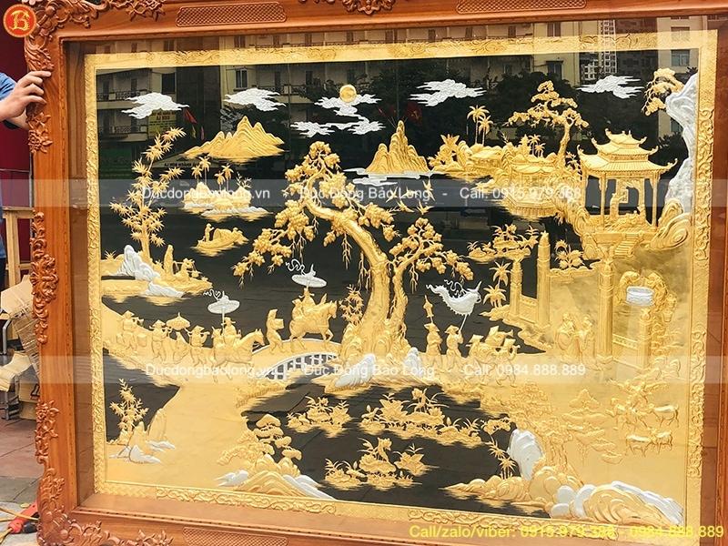 Tranh mạ vàng Vinh Quy Bái Tổ 1m97