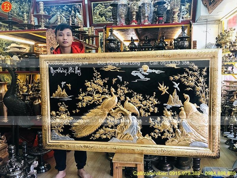tranh ngọc đường phú quý mạ vàng