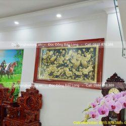 Treo tranh Sen Hạc 2m17 cho khách hàng Bình Chánh – TPHCM