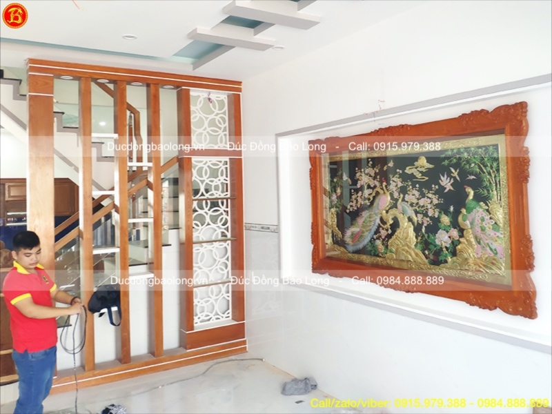 tranh ngọc đường phú quý bằng đồng