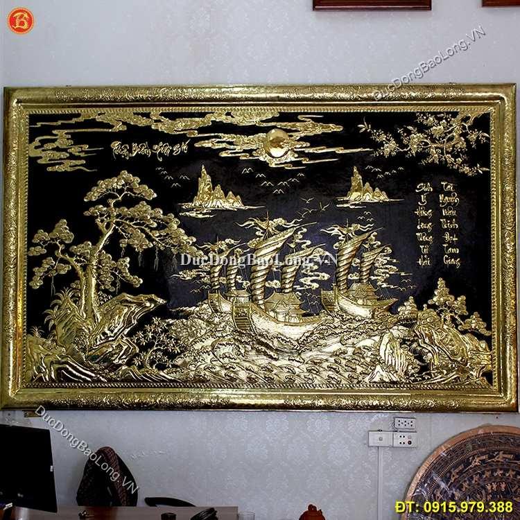Tranh Đồng Thuận Buồm Xuôi Gió 2m62 x 1m47