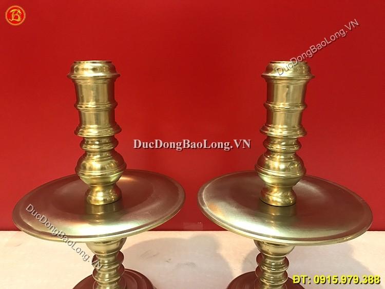 Chân Nến Bằng Đồng Thau Cao 40cm