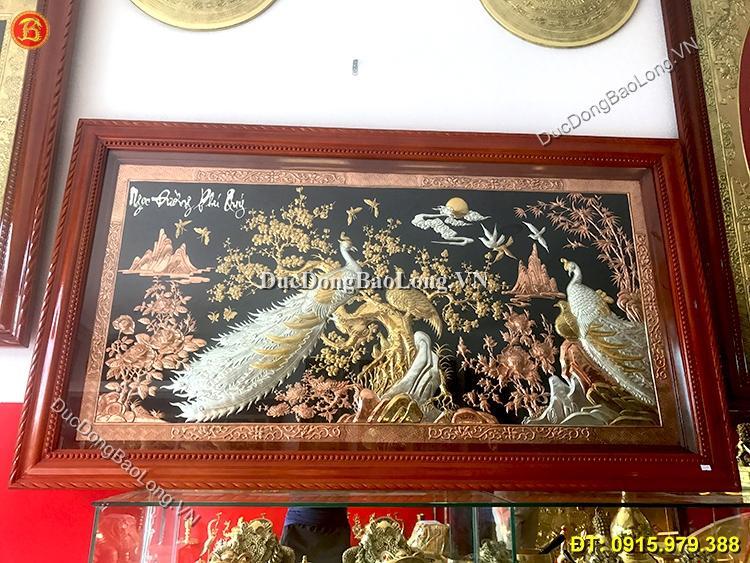 tranh đồng dát vàng bạc