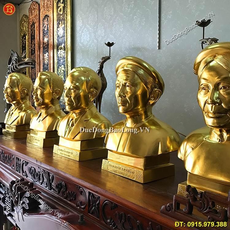 Tượng Chân Dung Bằng Đồng Dát Vàng