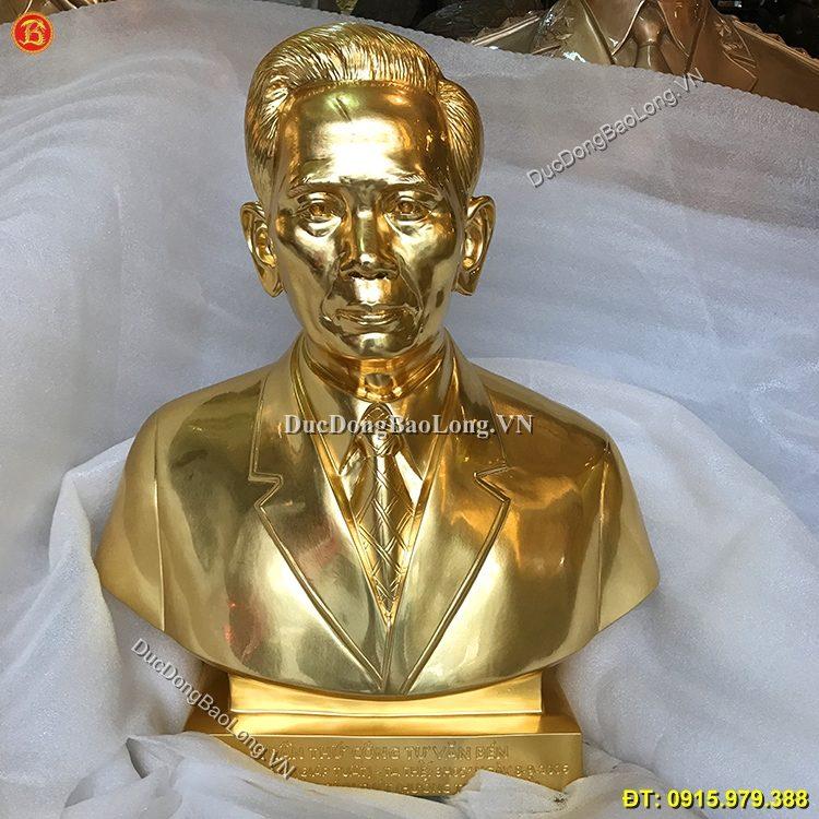 Tượng Đồng Chân Dung Dát Vàng 62cm
