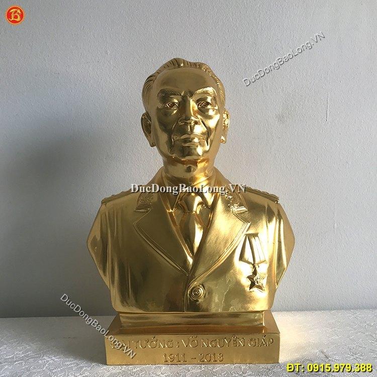 Tượng Đồng Võ Nguyên Giáp Dát Vàng 37cm