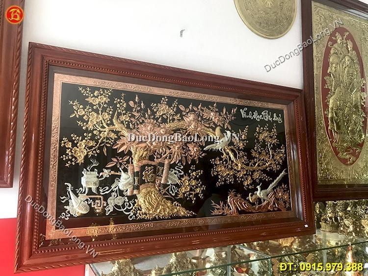 tranh vinh hoa phú quý mạ vàng bạc