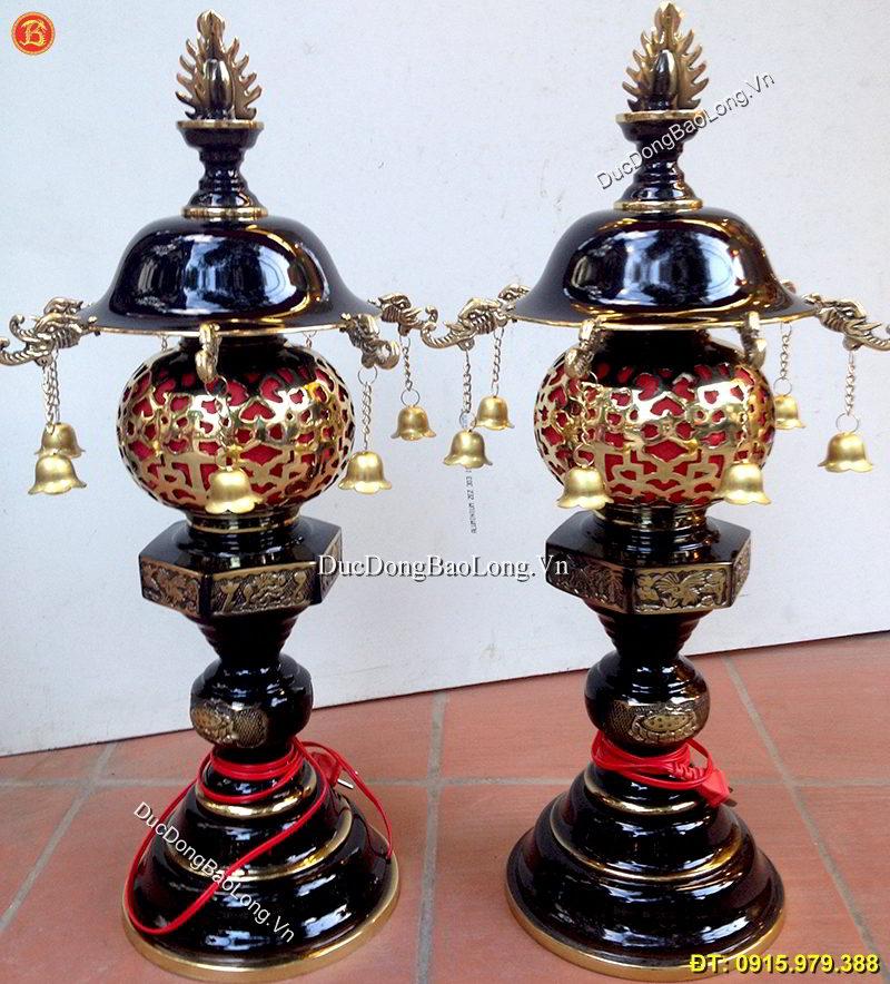 Đèn Thờ Bằng Đồng Dây Chuông Cao 63cm
