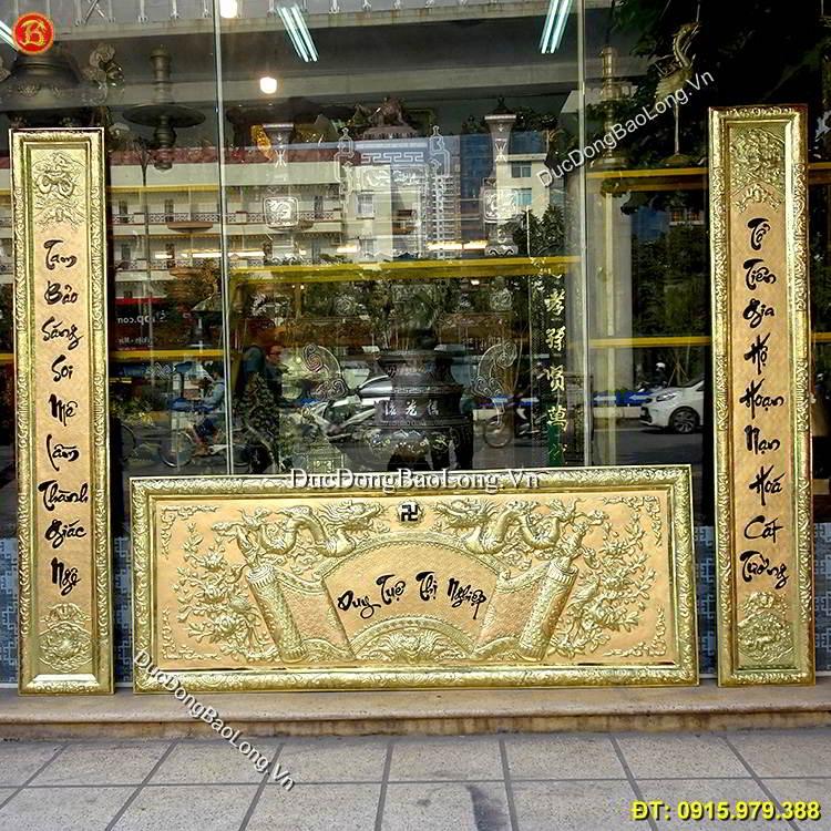 Hoành Phi Câu Đối Đồng Vàng 1m76 Thờ Cúng