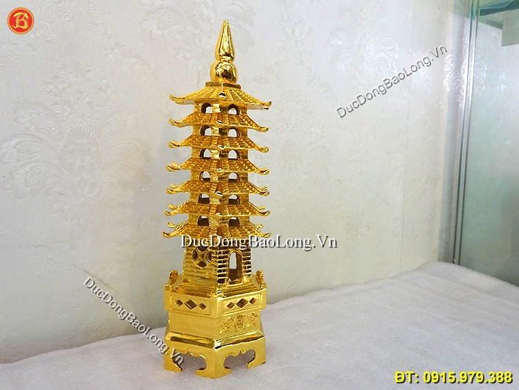 Tháp Văn Xương 7 Tầng Mạ Vàng 24k