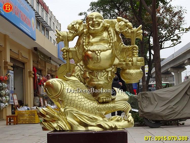 Mẫu tượng Phật Di Lặc bày phòng khách đẹp
