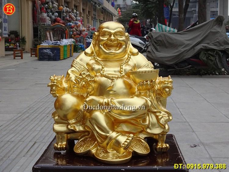 Mẫu tượng Đức Phật Di Lặc đẹp bày phòng khách