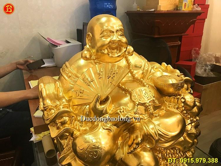 Tượng Phật Di Lặc Dát Vàng 9999 Cao 50cm