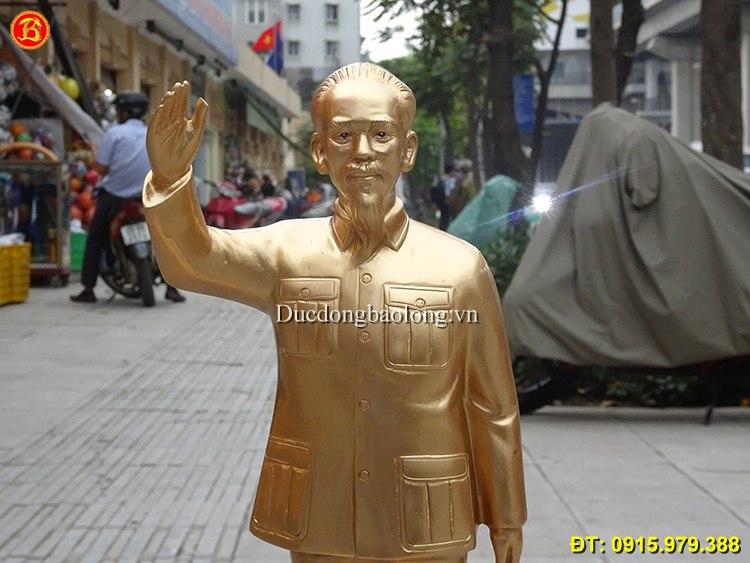 Tượng Bác Hồ Vẫy Tay Chào Bằng Đồng 48cm