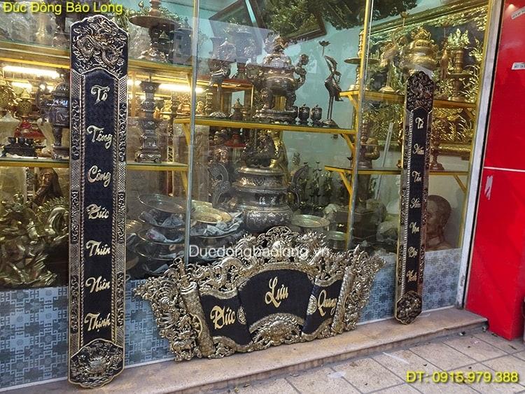 Cuốn Thư Câu Đối Chữ Việt bằng đồng 1m75