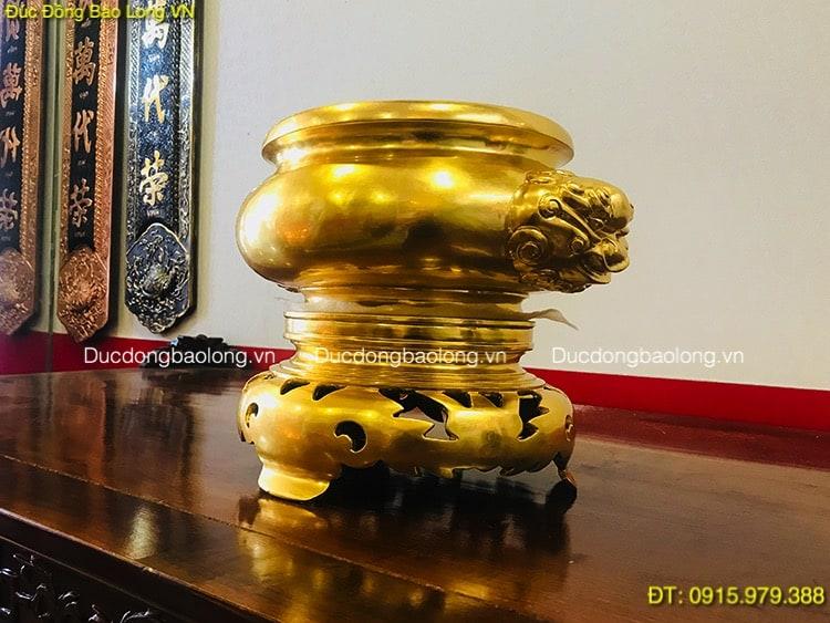 Bát Hương Đồng Dát Vàng đặt thờ cúng gia tiên
