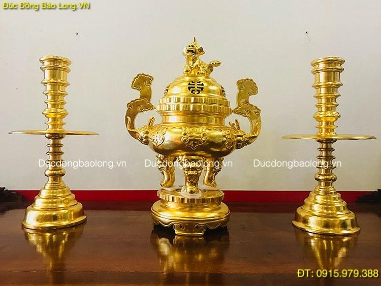Tam Sự Bằng Đồng Dát Vàng 9999 cao 61cm