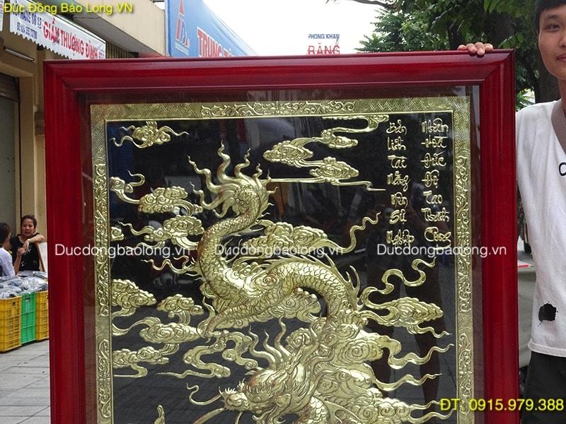 Tranh Cá Chép Hoá Rồng phong thuỷ cao 1m47