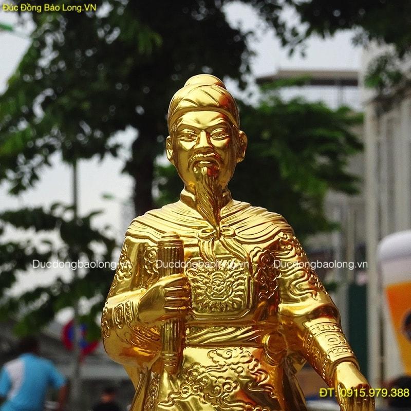 Tượng Trần Hưng Đạo Dát Vàng Đẹp cao 42cm