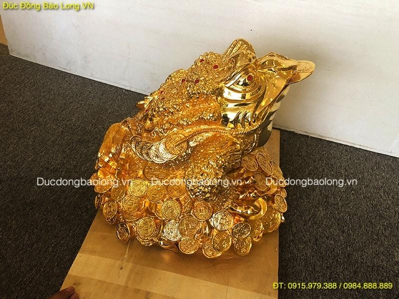 Cóc Ba Chân Mạ Vàng 24k cao 37cm