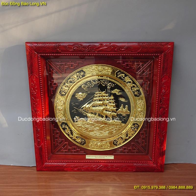 Tranh Mâm Thuận Buồm Xuôi Gió mạ vàng 24k