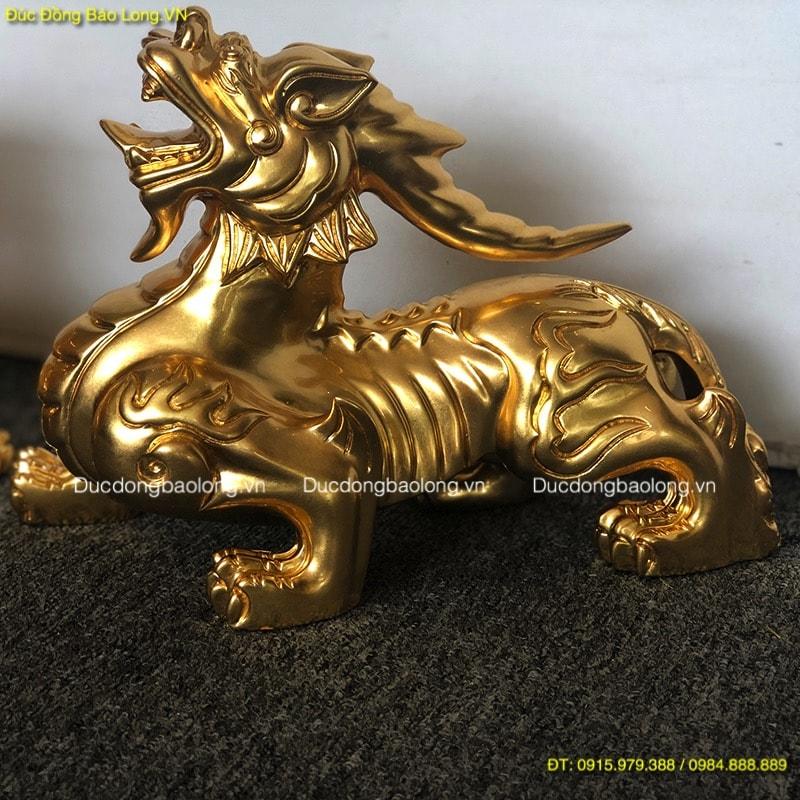 Tỳ Hưu Dát Vàng 9999 dài 28cm, cao 20cm
