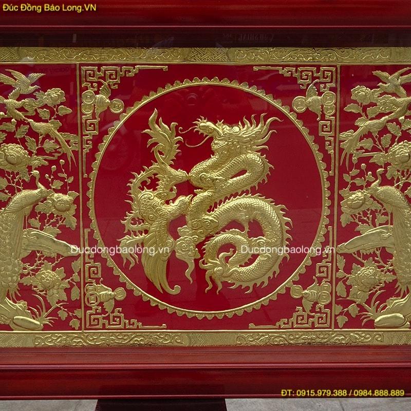 Tranh Chữ Phúc Tiếng Hán Mạ Vàng dài 1m07