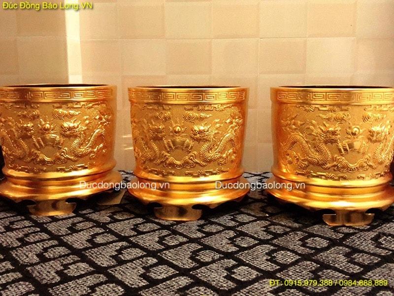 Bát Hương Thờ Cúng Dát Vàng 9999 các kích cỡ