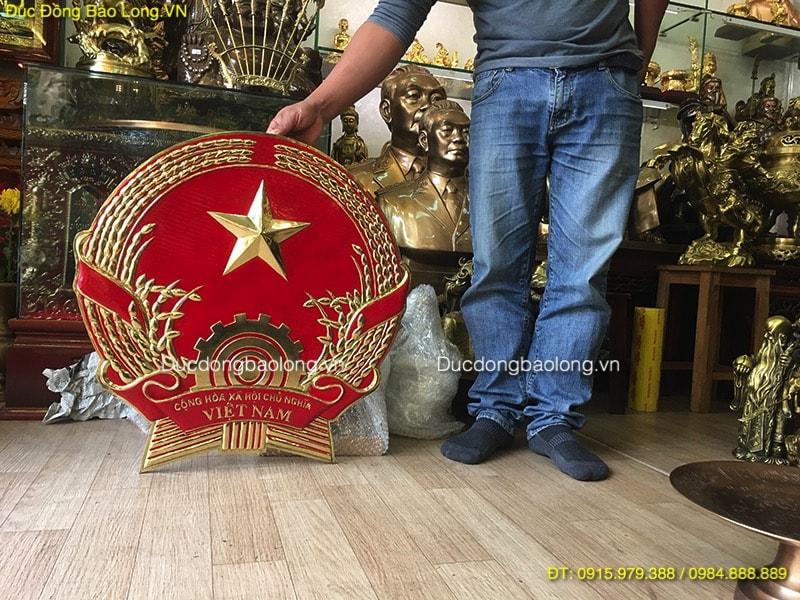 Quốc Huy Bằng Đồng 61cm treo cơ quan ở Hà Nội