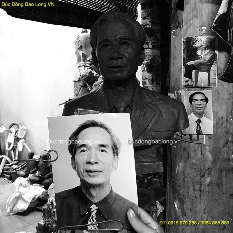 Tượng Chân Dung Cụ Ông bằng đồng cao 48cm
