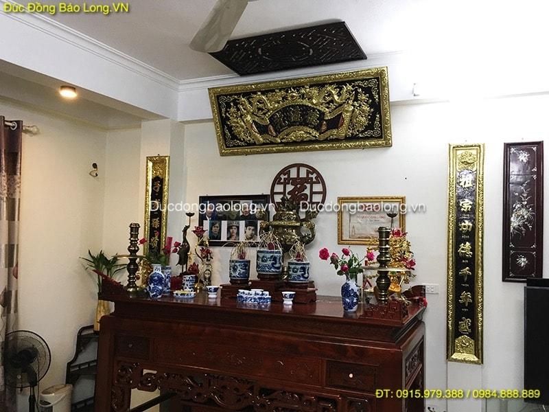 Hoành Phi Câu Đối Đồng 1m55 thờ gia tiên