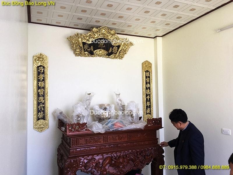 Cuốn Thư Câu Đối 1m35 treo bàn thờ gia tiên