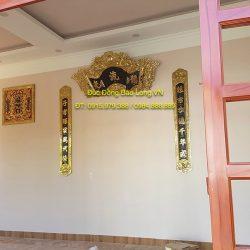 Cuốn thư câu đối cửu huyền thất tổ treo phòng thờ ở Biên Hoà