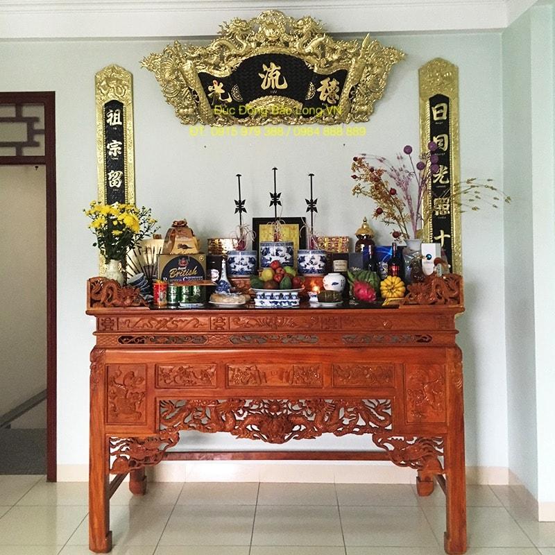 Cuốn Thư Câu Đối Đồng 1m76 treo bàn thờ