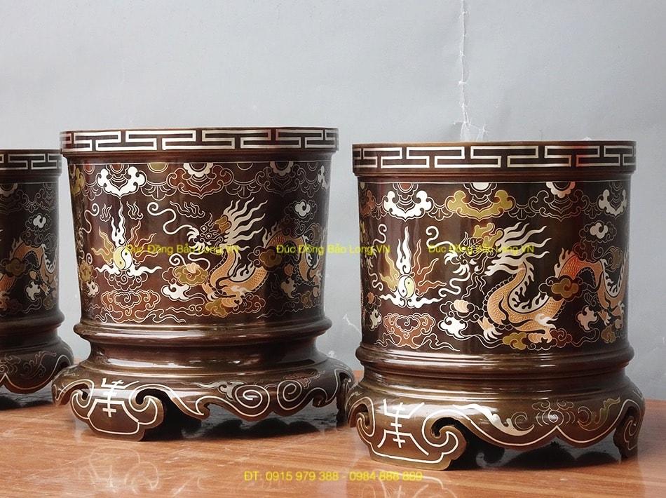 Bộ 3 bát hương thờ tổ tiên ĐK 18cm, 20cm