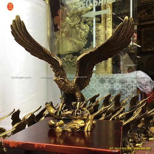 Tượng chim Đại Bàng bằng đồng cao 27cm