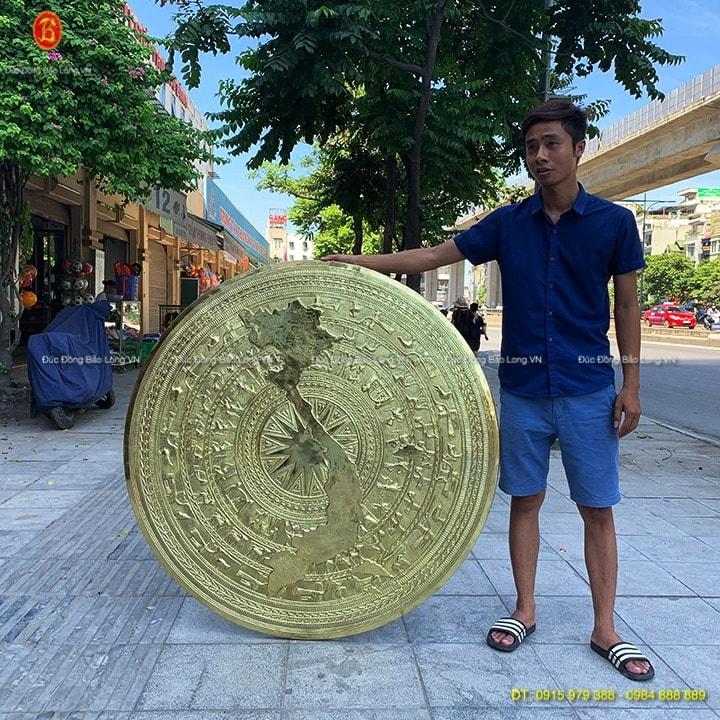 Mặt trống đồng Trang Trí 1m27 bản đồ Việt Nam