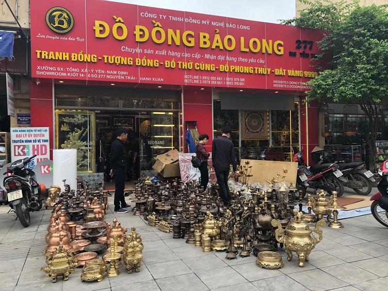 Cửa hàng bán Đồ thờ bằng đồng tại Bạc Liêu
