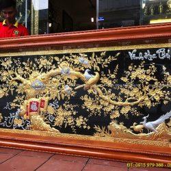 tranh vinh hoa phú quý mạ vàng dát bạc