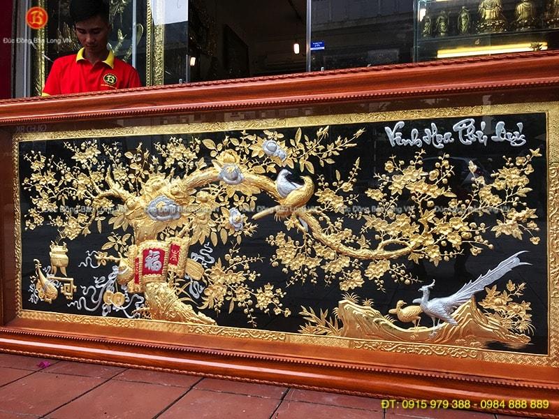 Tranh Vinh Hoa Phú Quý 2m33 mạ vàng bạc