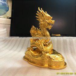 bán tượng rồng dát vàng