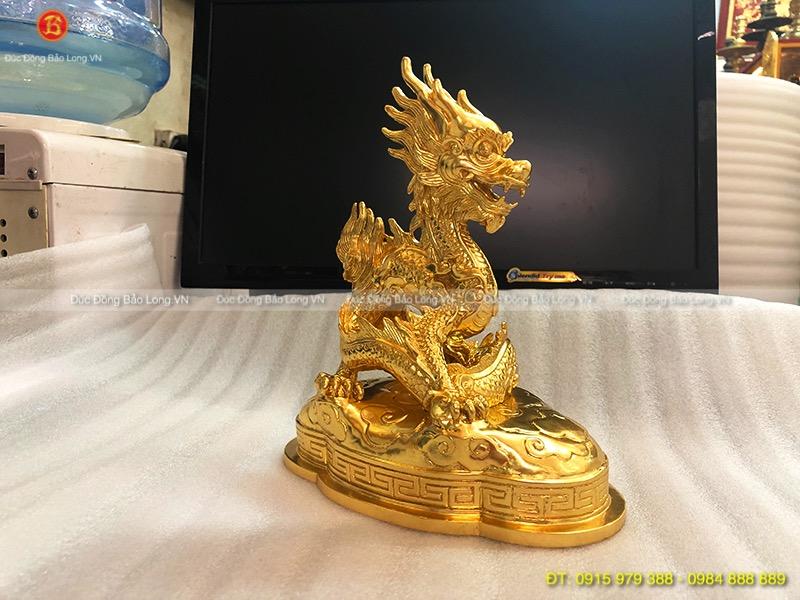 Con Rồng Dát Vàng lá 9999 đẹp cao 21cm