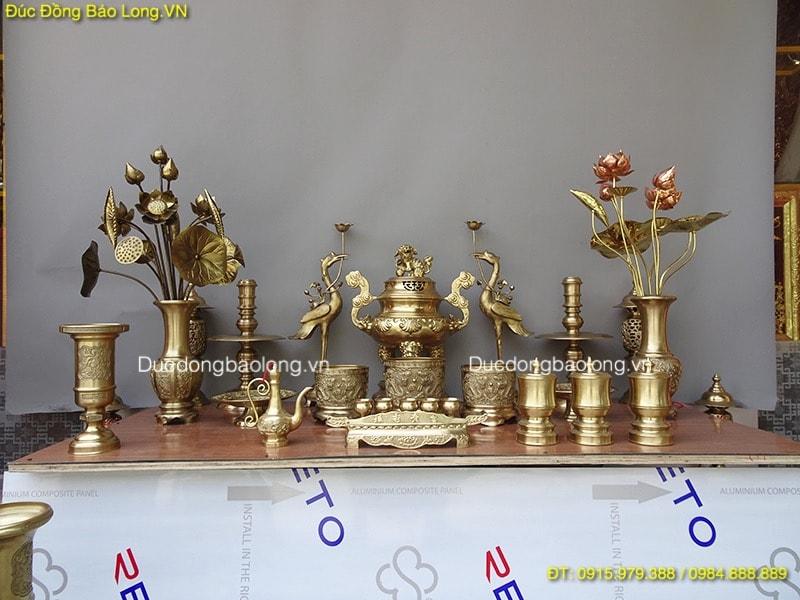 Đồ thờ bằng đồng tại Cần Thơ, đồ thờ bằng đồng vàng đầy đủ tại Cần THơ