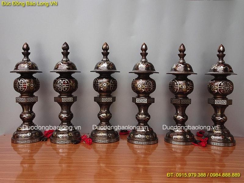 Đồ thờ bằng đồng tại quận Long Biên, đèn thờ bằng đồng