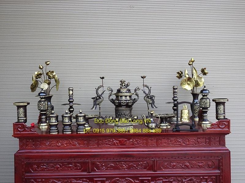 Đồ thờ bằng đồng tại quận tây hồ, đồ thờ bằng đồng đúc công nghệ