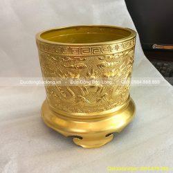 bát hương bằng đồng dát vàng