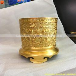 bát hương đồng dát vàng